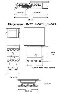 Materiel Dentaire - Unit DUO sous meuble a glissiere 1-571