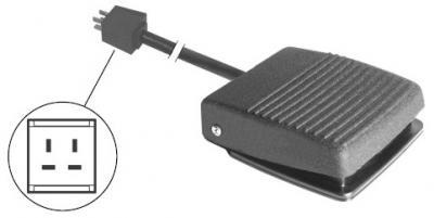 Composants dentaire - Pédale avec  cable électr et prise a 4 branches  ref12-090