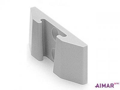 Composants dentaire - Equerre murale gris - REF 3-105