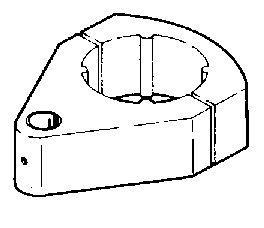 Matériel Dentaire - Machoire pour Tube 50.8mm -Peint Blanc - 4-055-B