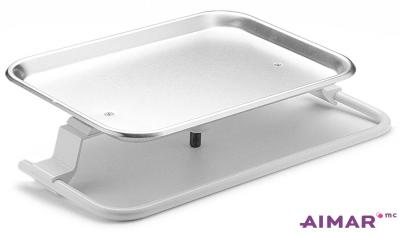 Matériel Dentaire - Tablette-Plateau inox porte tray - 4-095-B-B