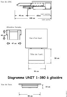 Materiel Dentaire - UNIT a Glissiere sous plan 1-380G-AIR3