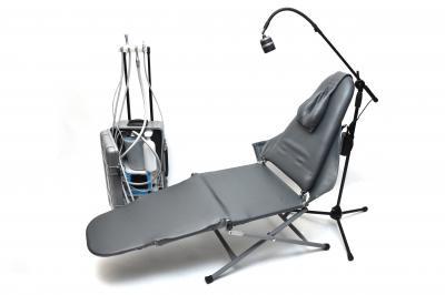 Cabinet dentaire portable avec fauteuil unit et eclairage