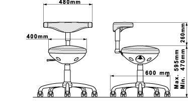 Tabouret Dentaire ASSISTANTE - ASSIST - PRO70040