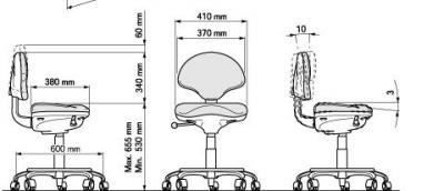 Tabouret Dentaire SYNCRO T3 PAPILLON - PRO70010