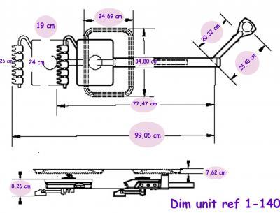 Materiel Dentaire - Unit sur bras telescopique 1-140