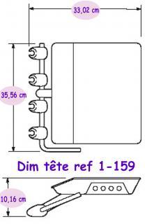 Materiel Dentaire - Tete seule d'Unit taille standard 1-159