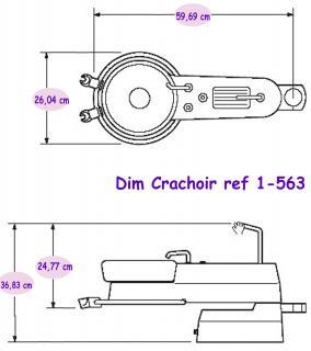 Materiel Dentaire - Crachoir US - PAS + ASPI  1-566