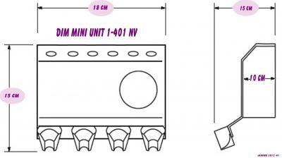 Dimension du mini unit 1-401 nv